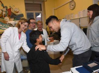 L'Inter visita i bambini ospedalizzati