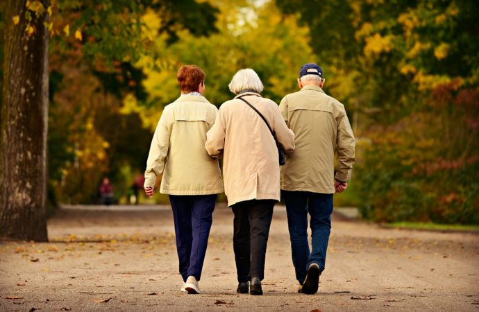 People-Three-Elderly-Walking-Together-Togetherness-3818490-690x450 Lazio, 500 mila euro per anziani