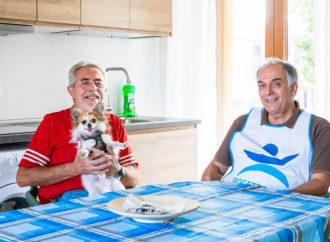 Casa rifugio per senza dimora con cani